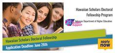Hawaiian Scholars Doctoral Fellowship Program