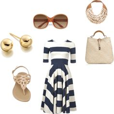 Lunch at the Beach Club, created by amyh443 on Polyvore