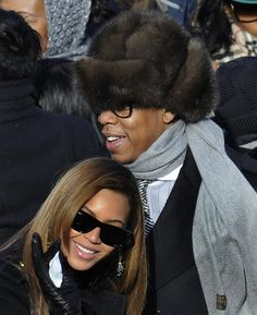 Jay-Z and Beyoncé happily watched the swearing in of President Barack Obama during his January 2009 inauguration in Washington DC. Celebrity Couples, Celebrity Style, Celebrity Women, Jay Z Birthday, Jay Z Concert, Beyonce And Jay Z, Beyonce 2013, Carter Family, Making Love