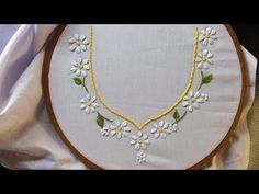 Hand embroidery. Neck design for dresses and blouses. Hand embroidery stitches for beginners. - YouTube
