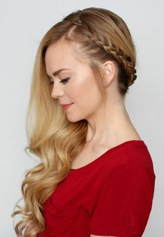 mujer con trenzas de lado Side Swept Hairstyles, Braided Ponytail Hairstyles, Pretty Hairstyles, Easy Hairstyles, Wedding Hairstyles, Long Hair Video, Cool Braids, Creative Hairstyles, Hair Videos