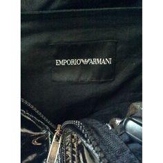 Jacket Emporio Armani Black size 48 IT in Synthetic - 7751096 Armani Black, Armani Men, Emporio Armani, Armani Jacket, Pvc Coat, Luxury Consignment, Pocket, Bag
