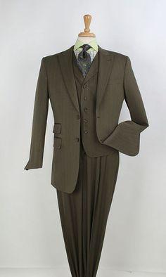 Tony Blake Big N Tall Fashion Suit Subtle Pin Stripe HF249