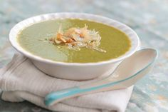 Creamy Spinach Soup with Yellow Lentils