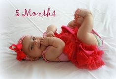6 month old Baby poses for pictures   Stansel Journey: Kayla is 5 Months old