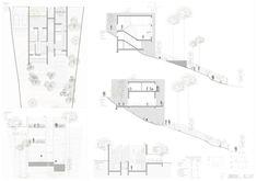 Casas en pendiente: 17 ejemplos de cómo adaptarse a un terreno inclinado - AboutHaus Floor Plans, Log Cabin Houses, Country Houses, Home Plans, Container Houses, House, Floor Plan Drawing, House Floor Plans