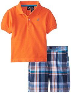 Nautica Little Boys' 2 Piece Solid Short Sleeve Polo with Plaid Short,Neon Orange,4T Nautica http://www.amazon.com/dp/B00QFMPZ34/ref=cm_sw_r_pi_dp_z19Pvb0VFXGSA