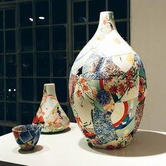 Stunning patchwork ceramics from Zoe Hillyard at #madelondon  #ceramics #patchwork #handmade