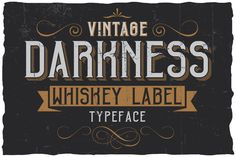 Vintage Darkness Label Font by Vozzy on @creativemarket