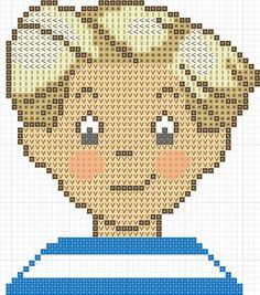 triplés07 1 en 50 grille pt Pixel Art, C2c, Le Point, Betty Boop, Baby Kids, Cross Stitch, Teddy Bear, Dimensions, Disney