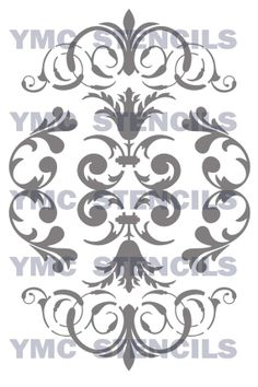 Damask+Stencil++9x12+by+YourMemoriesCaptured+on+Etsy,+$18.00  Dremel project on glass or mirror?