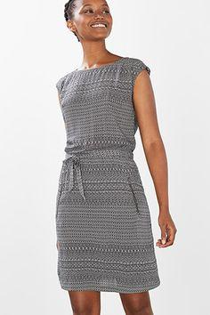 Esprit / Fließendes Minimal-Print-Kleid