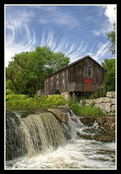 Erb's Grist Mill, Waterloo, Ontario, Canada by 100alpha, via Flickr Canada Eh, Visit Canada, Great Places, Places To See, Cruise Destinations, Largest Countries, Le Moulin, Covered Bridges, Old Buildings