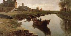 Pietro Fragiacomo  (1856-1922) - Venezia povera