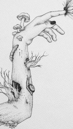 Trippy Drawings, Dark Art Drawings, Art Drawings Sketches Simple, Pencil Art Drawings, Cool Drawings, Drawings Of Men, Hand Drawings, Unique Drawings, Beautiful Drawings