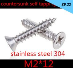 Have you seen this product? Check it out! 500pcs/lot m2 x 12 m2*12 2mm  stainless steel   phillips flat  head (cross recessed countersunk  head) self tapping screw - US $9.22 http://bestsellingitems3.com/products/500pcslot-m2-x-12-m212-2mm-stainless-steel-phillips-flat-head-cross-recessed-countersunk-head-self-tapping-screw/