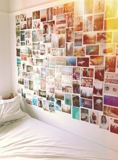 Photo wall. I quite like this but maybe there's too many