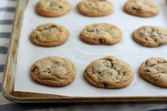 Brown Butter Chocolate Chip Cookies by Completely Delicious, via Flickr (I subbed the mixins for M and raisins, but brown butter makes a great difference)