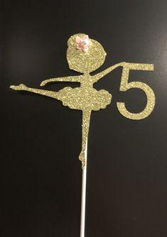 Ballerina Cake Topper; Ballet Cake Topper; Ballet party; Ballerina birthday party; Dance birthday; Glitter Cake Topper by MKScrapAndParty on Etsy https://www.etsy.com/listing/606410433/ballerina-cake-topper-ballet-cake-topper