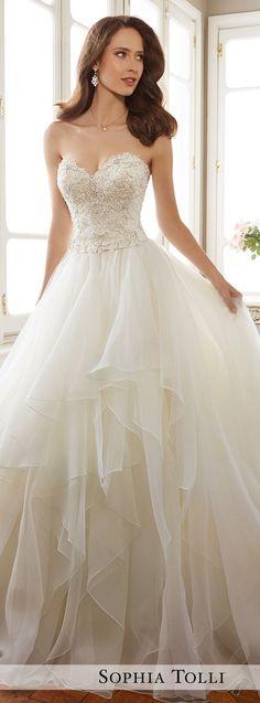 Wedding Dress by Sophia Tolli Spring 2017 Bridal Collection   Style No. » Y11716 Tropez #weddinggowns