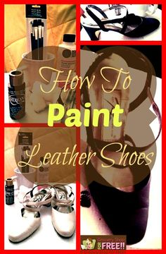 """How To Paint Leather Shoes. A couple of weeks ago my daughter came and took a pair of my mom's shoes to """"paint"""" them. I was pretty skeptical of the entire idea, but, she did a great job!"""