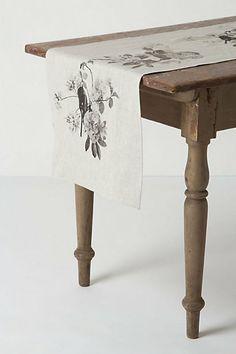 Grayscale Trellis Table Runner #anthropologie