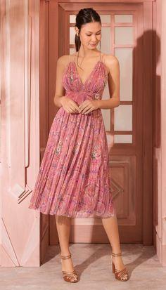 Vestido Midi Formosa Rosa