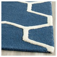 Delmont Texture Wool Rug - Navy Blue / Ivory (4' X 6') - Safavieh, Blue/Ivory