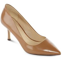 2038ae357e Liz Claiborne(R) Layla Leather Pumps ( 40) ❤ liked on Polyvore Nude