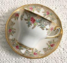 """Salisbury China Tea Cup & Saucer """"Dijon"""""""