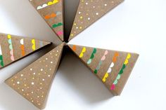 Colourful Geometric Pie box favours