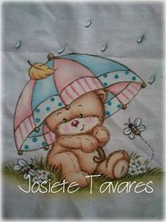 Ursinho Bear Pictures, Pictures To Paint, Tole Painting, Fabric Painting, Country Bears, Vintage Drawing, Cute Clipart, Tatty Teddy, Bear Art