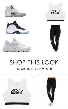 """""""⚪️⚫️⚪️⚫️"""" by nasza100 ❤ liked on Polyvore featuring NIKE"""