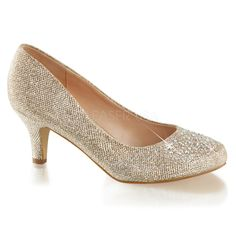 Consider Doris your Fairytale footwear, dolls! Sleek and enchanting in a fabulous shimmery rhinestoned champagne, the Doris pumps are a dazzling duo! This polished pair of pumps are sweet and graceful, with a closed toe encrusted in rhinestone detail and Pump Shoes, Shoes Heels, High Heels, Pin Up Shoes, Sparkly Wedding Shoes, Ballroom Dance Shoes, Kitten Heel Shoes, Prom Heels, Fabric Shoes