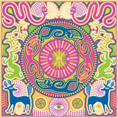 Creating Daylight Ilustration inspired by Huichol spiritual beliefs and legends. Spiritual Beliefs, Spirituality, Mexican Colors, Tapestry, Colours, Create, Legends, Illustrations, Inspiration
