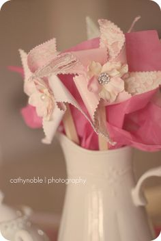 pinwheels: cut with decorative scissors and add a small flower to the center :)
