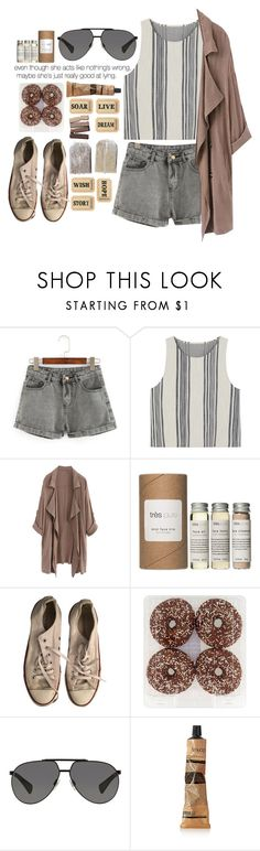 """Even though she acts like nothing is wrong, maybe she's just really good at acting."" by cjcstyle ❤ liked on Polyvore featuring MANGO, Très Pure, Converse, Dolce&Gabbana and Aesop"