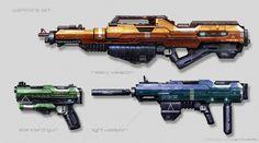 ArtStation - Weapons concept updated, Juan Novelletto