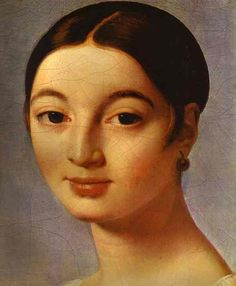 Portrait of Mademoiselle Rivière (detail), by Jean-Auguste-Dominique Ingres (French, 1780-1867)