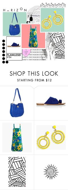 Jcrew Blue Yellow and Green Dress by bettie-boop on Polyvore featuring J.Crew and Diane Von Furstenberg