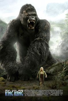 King Kong (2005) PG-13 - Stars: Naomi Watts, Jack Black, Adrien Brody.  -  In 1933 New York, an overly ambitious movie producer coerces his cast and hired ship crew to travel to mysterious Skull Island, where they encounter Kong, a giant ape who is immediately smitten with leading lady Ann Darrow.  -  ACTION / ADVENTURE / DRAMA