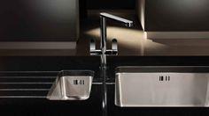 Ceramic Kitchen Sinks, Granite Kitchen Sinks, Kitchen Taps, Beautiful Kitchen Designs, Beautiful Kitchens, Sink Taps, Work Surface, Other Rooms