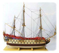 TINTIN: LA LICORNE - maquette bois 74 cm 1/75°