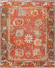 Antique Turkish Oushak Rug 48131 Main Image - By Nazmiyal