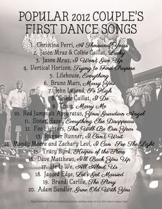 The best songs to use for your first dance at your wedding. 1st Dance Wedding Songs, Country Wedding Songs, First Dance Songs, Wedding Music, Wedding Shot, Country Weddings, Vintage Weddings, Lace Weddings, Best Wedding Songs