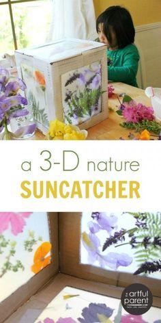 A 3D Nature Suncatcher for Kids Using a Cardboard Box