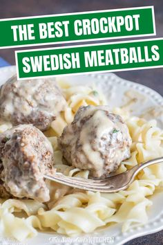 Slow Cooker Swedish Meatballs, spiced meatballs in a luscious sour cream sauce, an easy weeknight meal!  You are going to love this Crockpot Swedish Meatballs Recipe. #crockpotdinner #swedishmeatballs Slow Cooker Swedish Meatball Recipe, Swedish Meatballs Crockpot, Crock Pot Meatballs, Slow Cooker Recipes, Crockpot Recipes, Cooking Recipes, Healthy Recipes, Easy Recipes, Popular Recipes