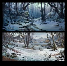 ArtStation - Winter scenes, Tyler edlin