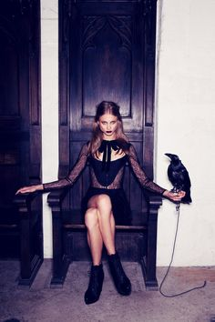 Anna Selezneva Gets Gothic in For Love & Lemons Fall 2013 Ads  Photography by Zoey Grossman
