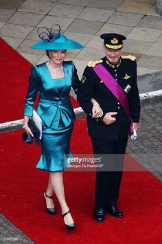 Prince Philippe of Belgium and Princess Mathilde of Belgium leave Westminster Abbey following the Royal Wedding of Prince William to Catherine Middleton on April 29, 2011 in London, England. The marriage of the second in line to the British throne was led by the Archbishop of Canterbury and was attended by 1900 guests, including foreign Royal family members and heads of state. Thousands of well-wishers from around the world have also flocked to London to witness the spectacle and pageantry…